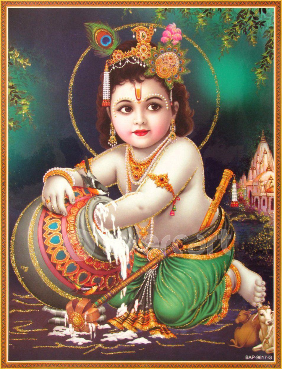 Lord shree bal krishna wallpaper beautiful hd wallpaper - Lord Krishna Shree Krishna Baby Krishna Bal Krishna Poster Size 9x11
