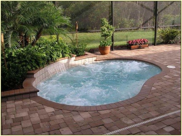 Simple And Elegant Pool For Your Home 40 Small Inground Pool Small Swimming Pools Small Pool Design