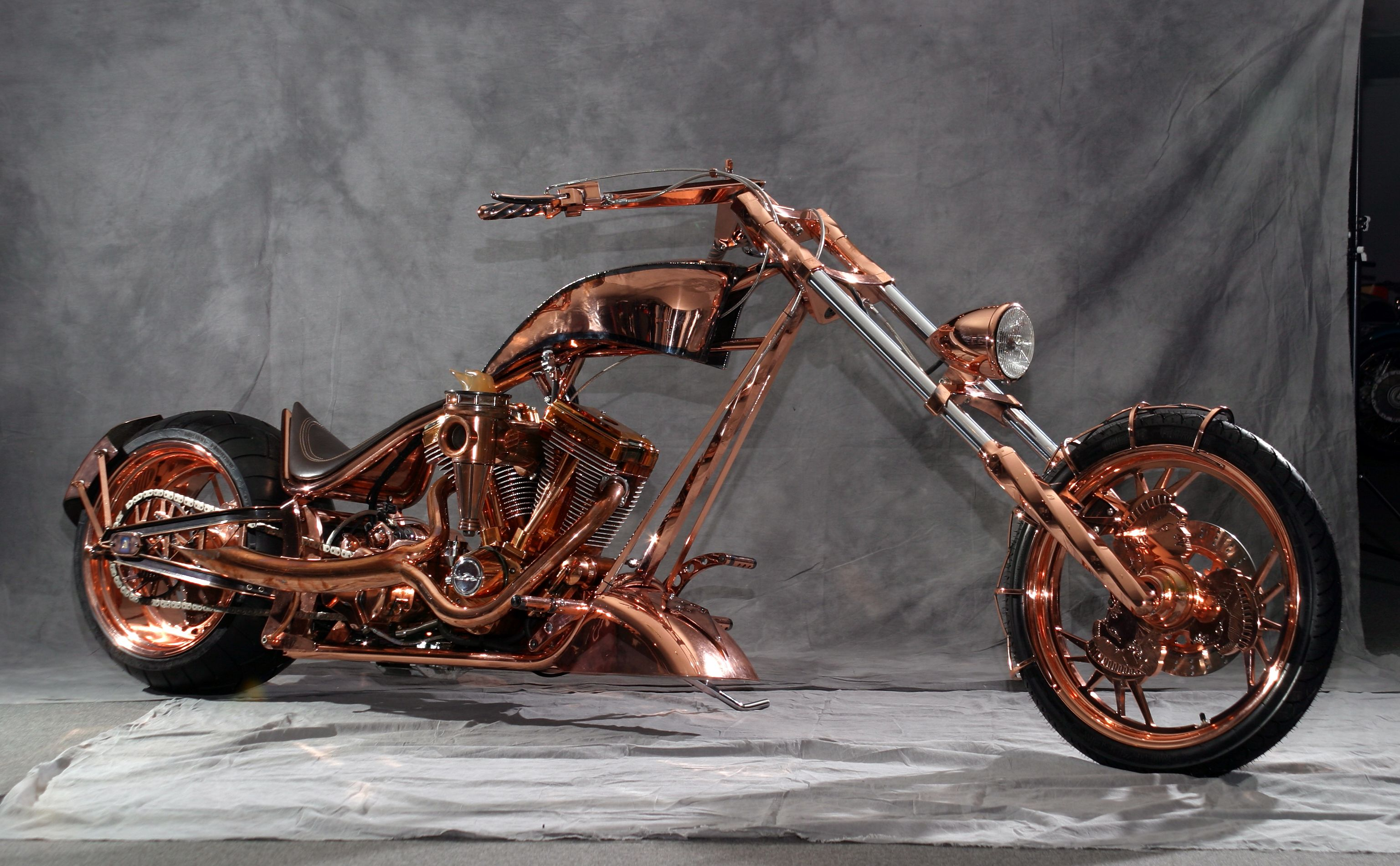 saddle of course the copper occ copper plated chopper http all hd. Black Bedroom Furniture Sets. Home Design Ideas