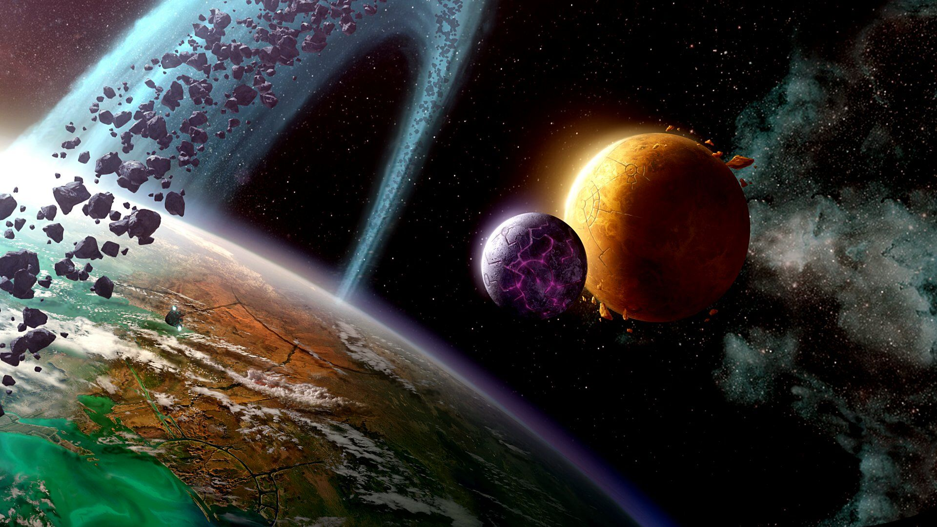 in space hd wallpaper is an HD wallpaper posted in