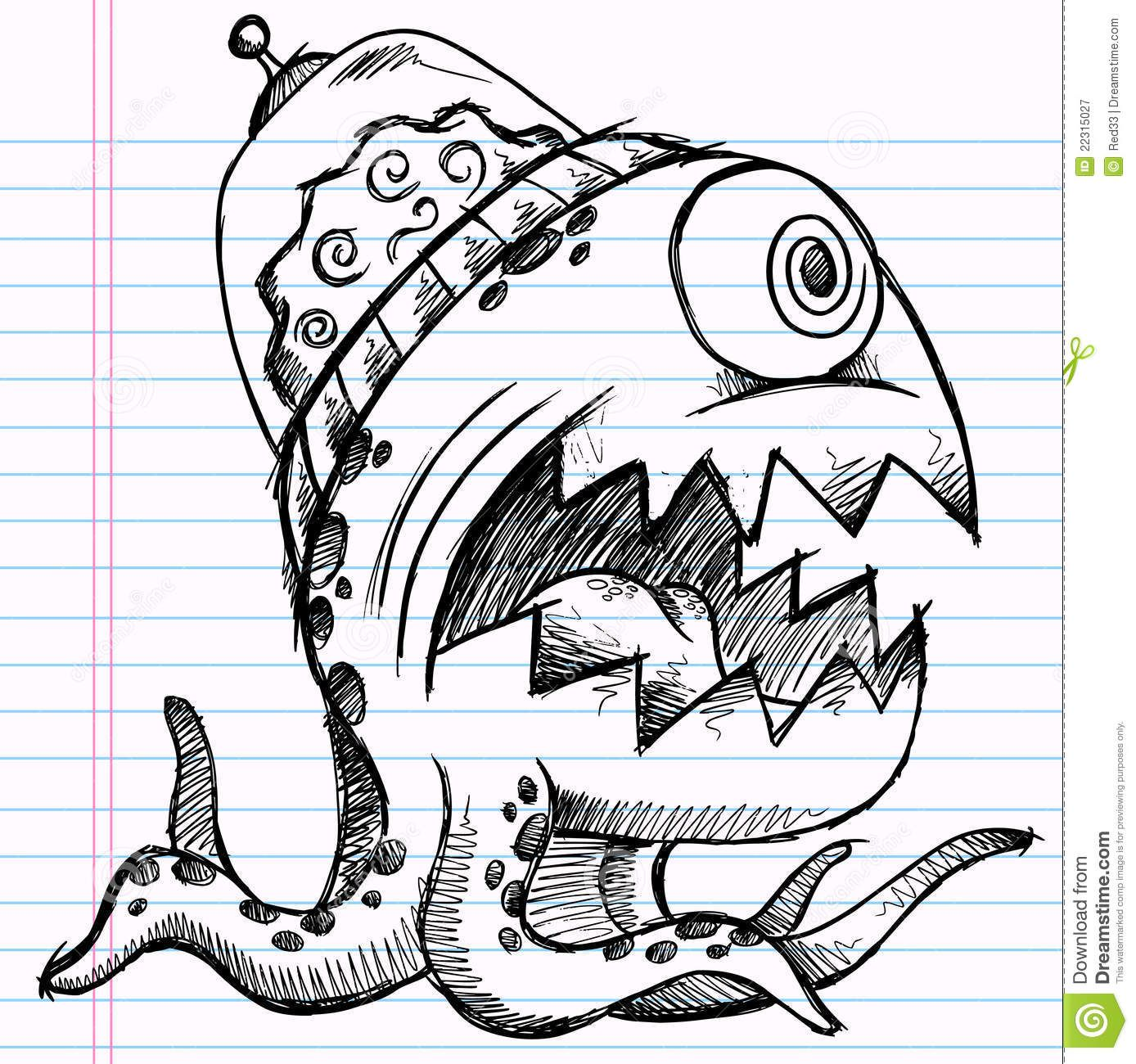 Scribble Monster Drawing : How to draw simple graffiti art google search random