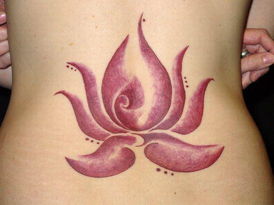 Tatouage Dos Femme Fleur R Pinterest Lotus