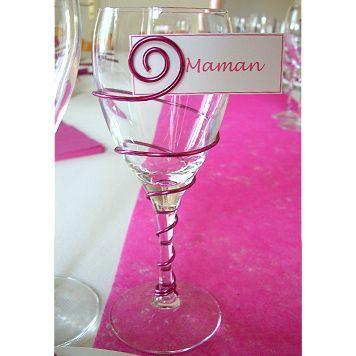 D corrations fait avec fil aluminium pour table de mariage for Decoration vase en verre
