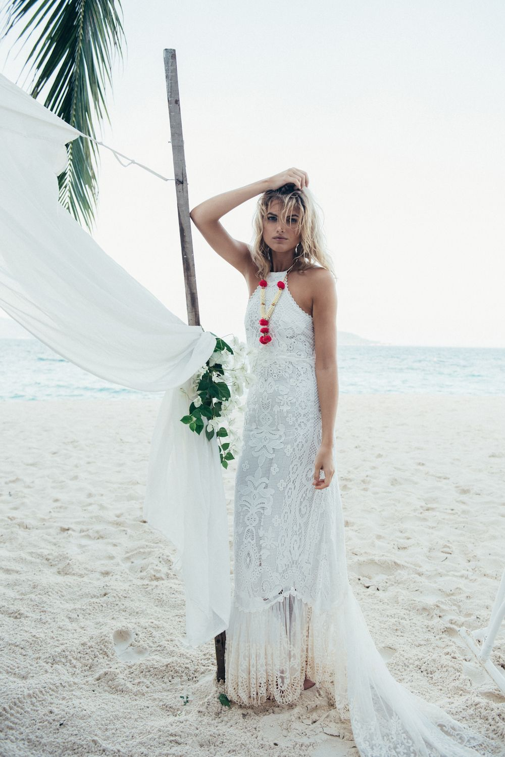boho beach wedding dress | fabmood.com
