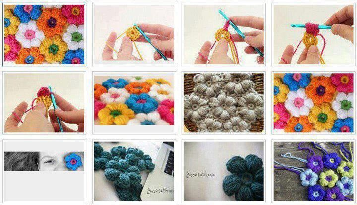 Diversas Flores Em Crochet... - Edicrisarts