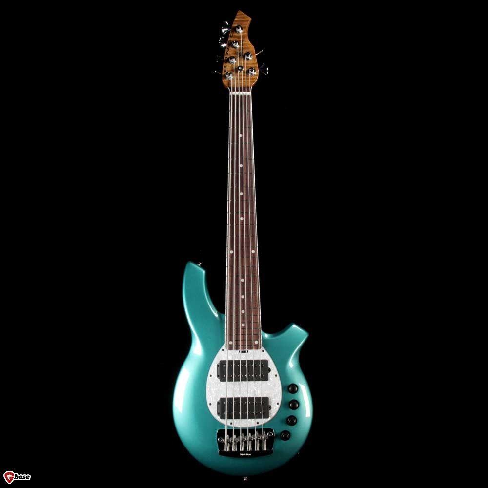 Ernie Ball Music Man Bongo 6 Hh Bfr Grabber Green Bass Guitar Guitar Bass