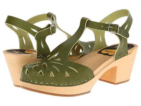 Swedish Hasbeens Lacy Sandal, Green