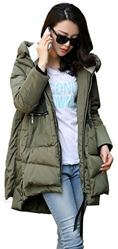 Orolay Womens Thickened Down Jacket Green Xl ** See this great ...