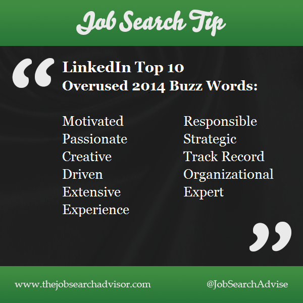 Words NOT to use on your resume, LinkedIn Profile, Bio and