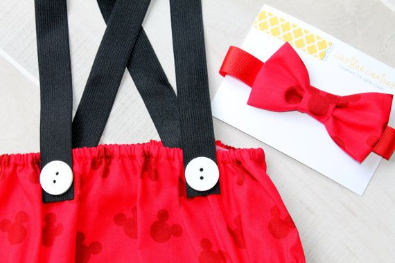 Mickey Mouse Cake Smash Outfit First by CrestlineCreatives on Etsy