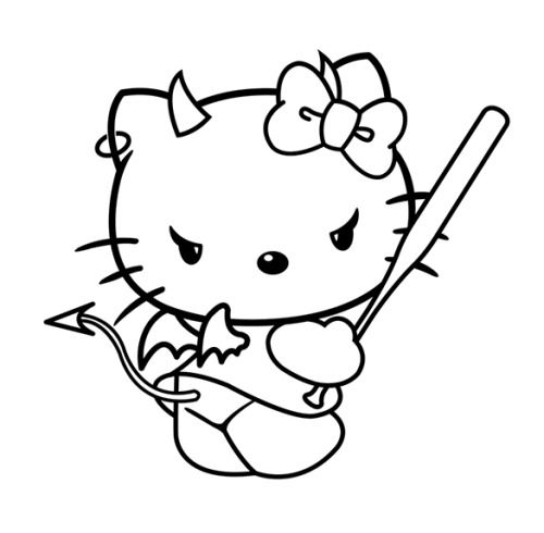 Pin By Addie On Misc Hello Kitty Coloring Hello Kitty Tattoos