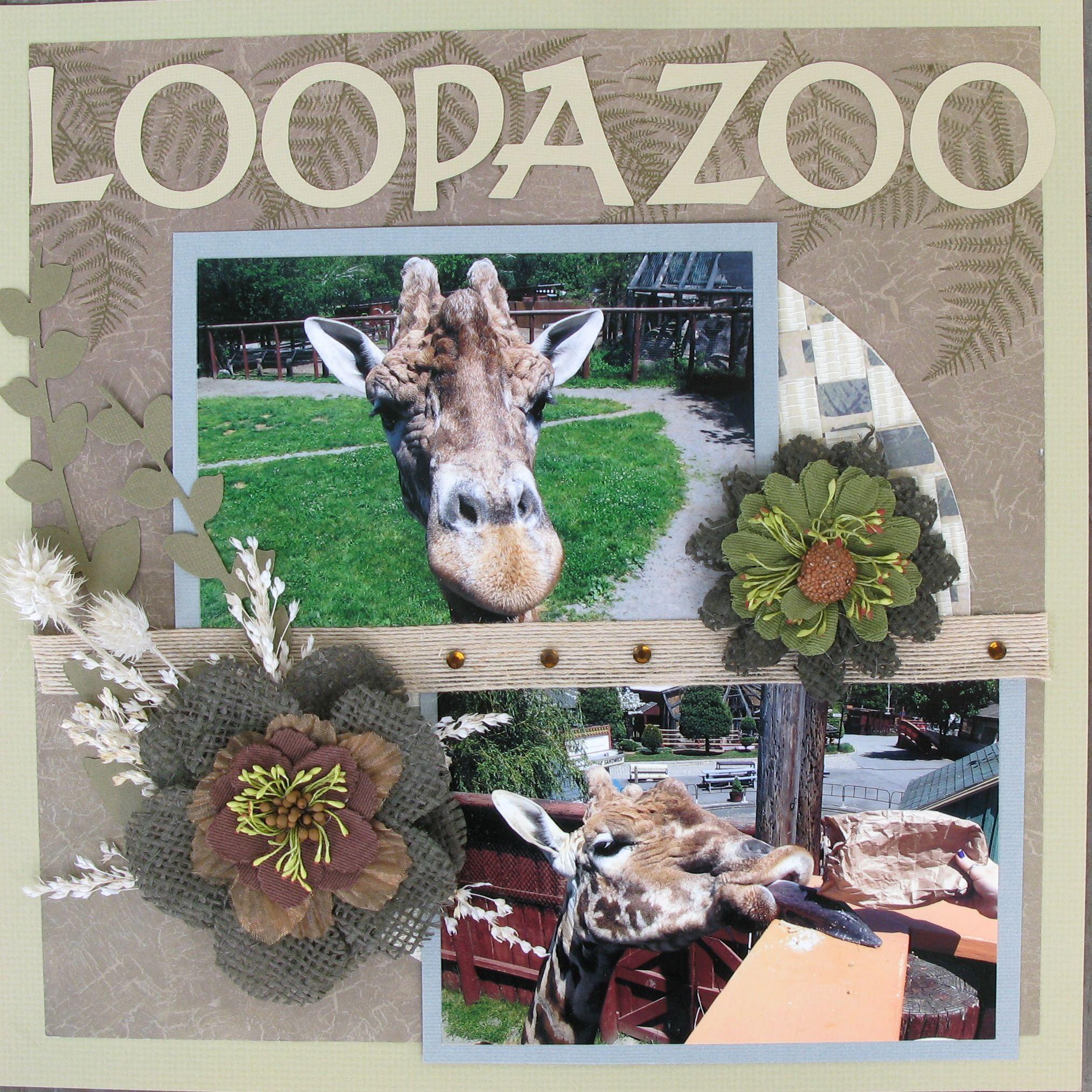 Zoo animal scrapbook ideas - Loopa Zoo Scrapbook Com Animals Outdoors