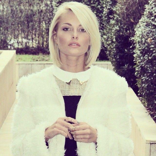 Caroline Receveur Love the fluffy jacket Coiffures