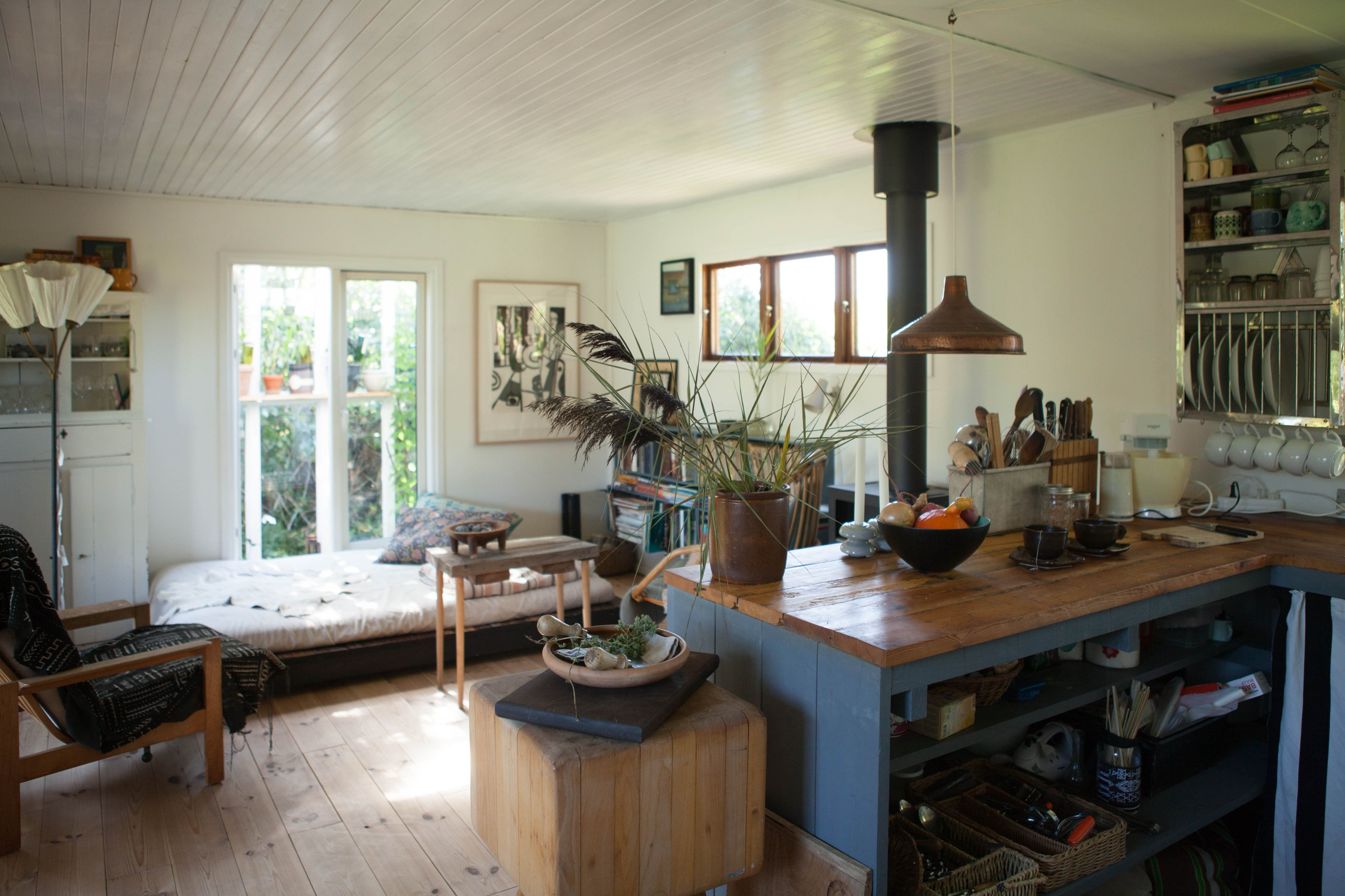 House Tour A Countryside Summerhouse In Denmark Apartment Therapy Summer House Kitchen Island Design Cozy Kitchen