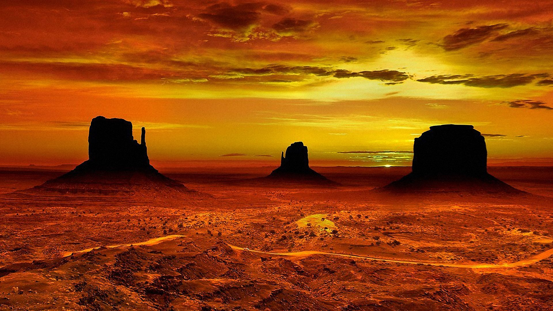 Monument Valley Arizona Wallpaper Wide Or Hd Nature Wallpapers