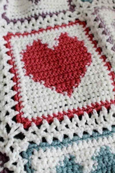 Scrap Hearts Afghan Crochet Pattern | Crochet-1: All About Crochet ...