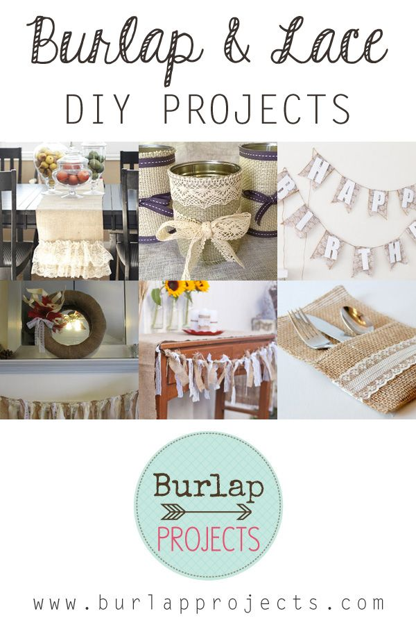 Burlap and Lace DIY Projects