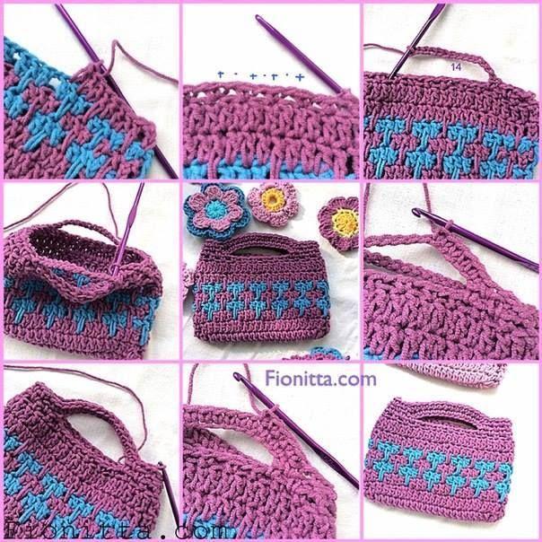 Tutorial #65: Bolso tejido a Crochet | CTejidas [Crochet y Dos ...