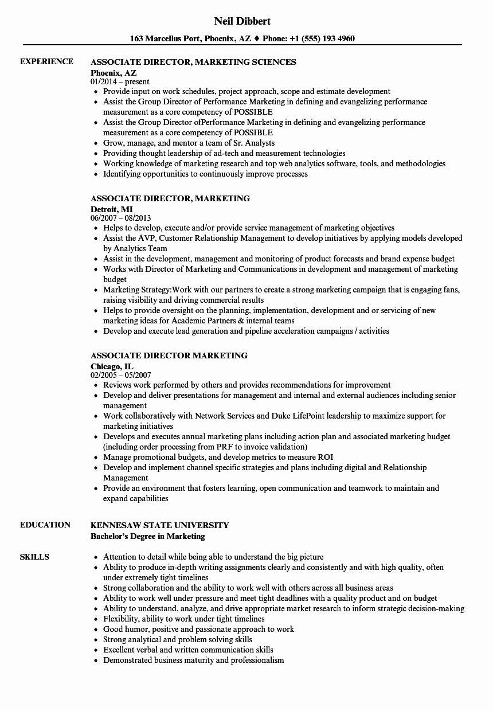 Director of communications resume beautiful associate