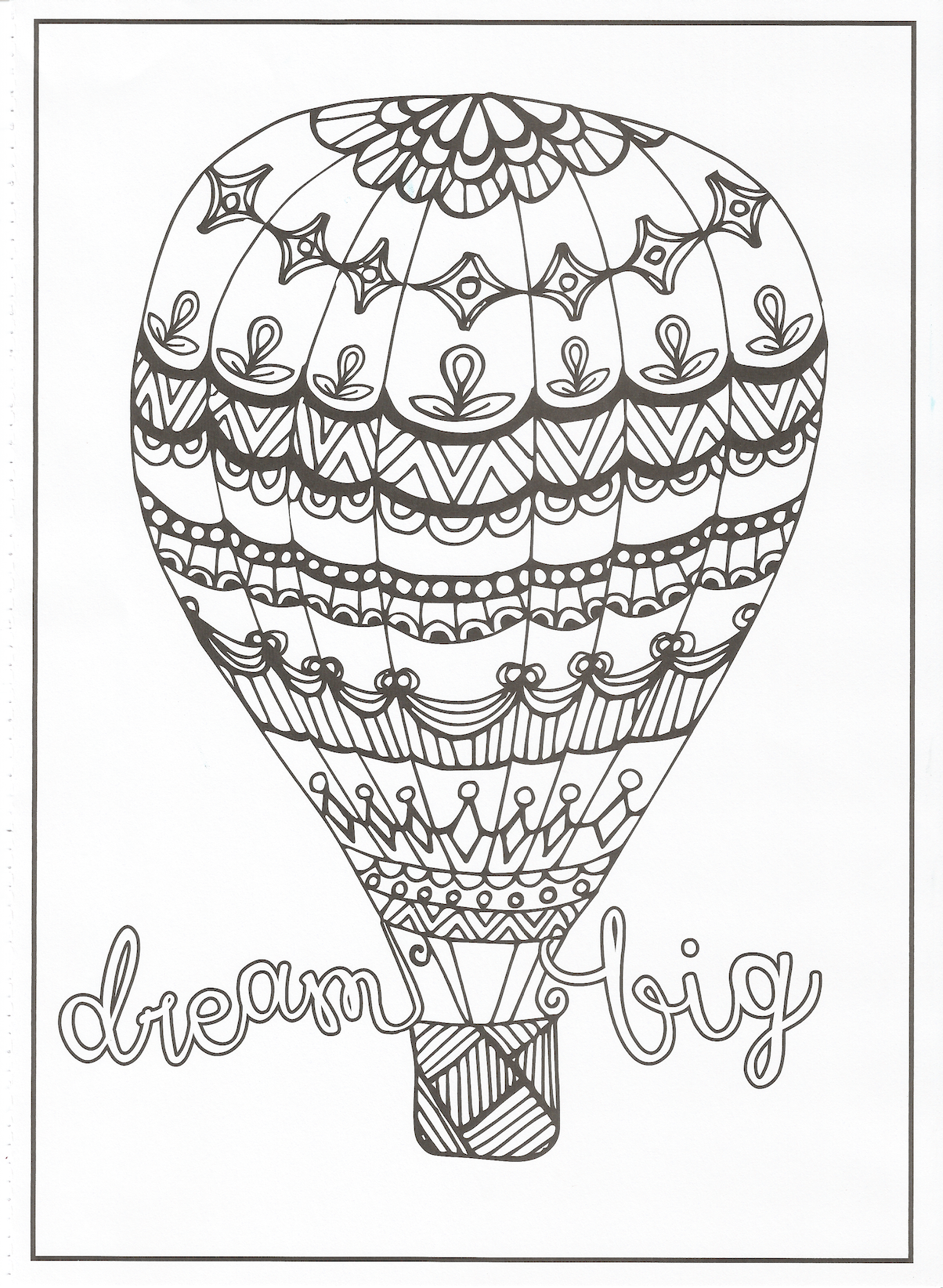 Timeless Creations Creative Quotes Coloring Page Dream