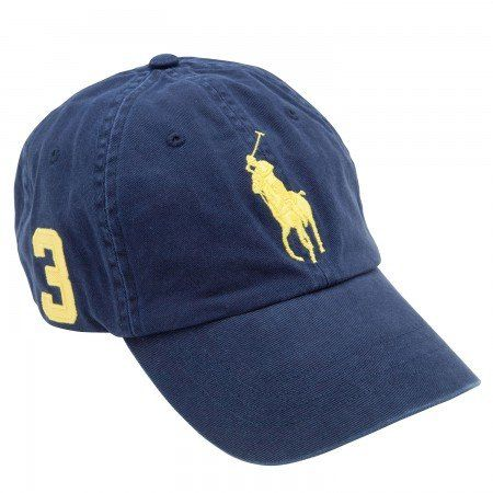 3f4e91e7 Polo Ralph Lauren Big Pony Hat Cap Navy with Yellow pony $37.99 ...