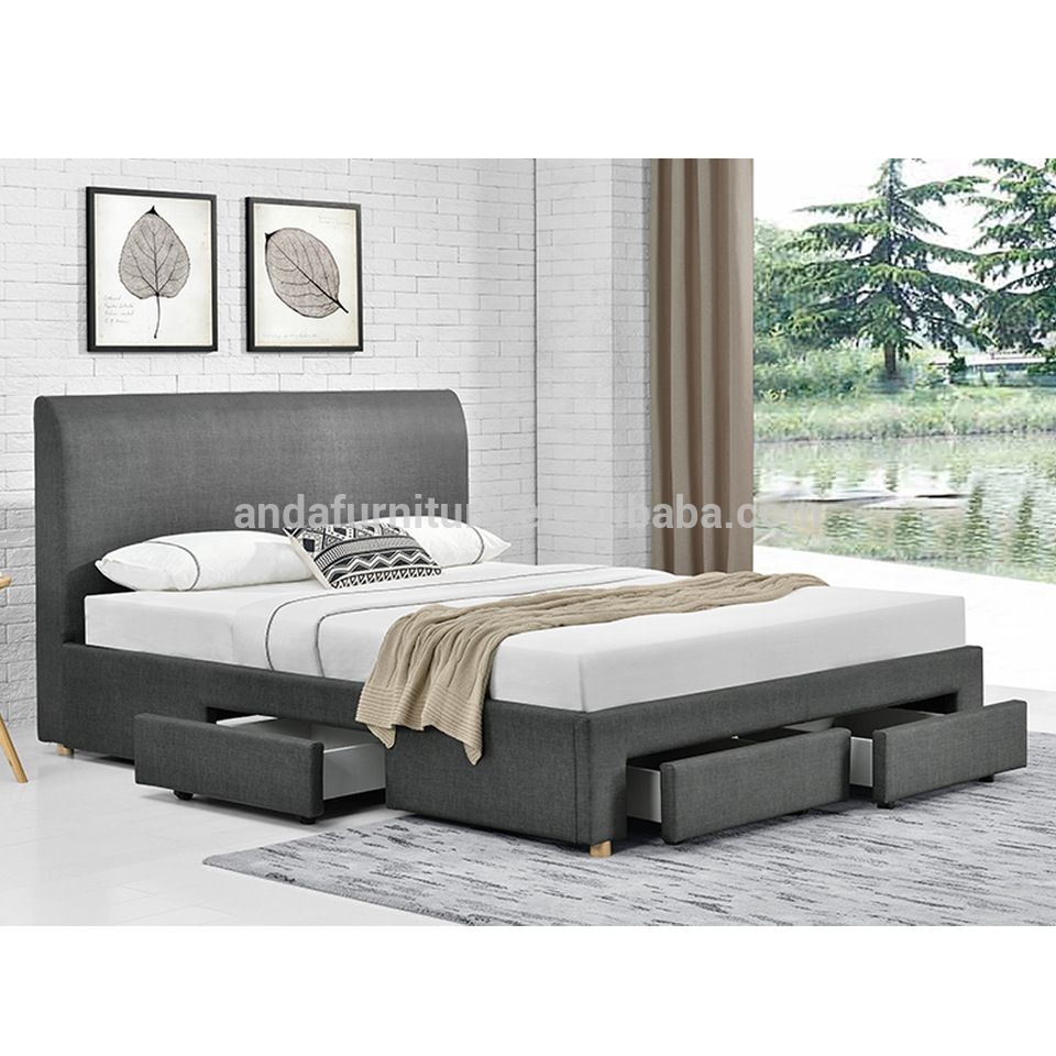Wholesale Latest Double Bed Designs European Style Bed Room