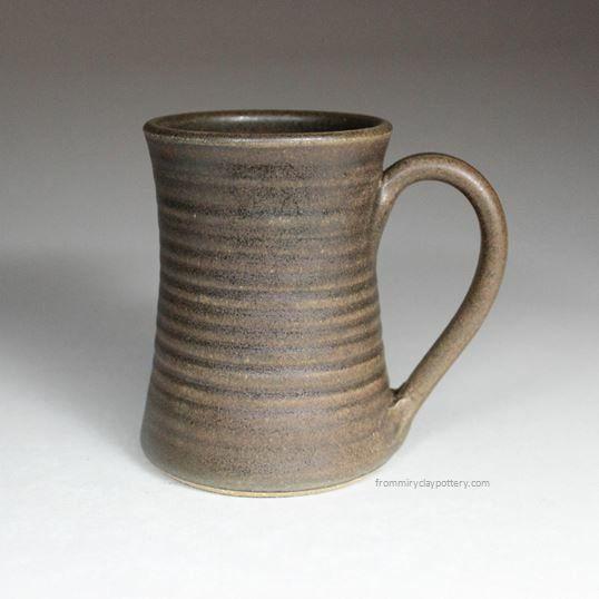 Handmade Custom Shaped Coffee Mug: From Miry Clay Pottery