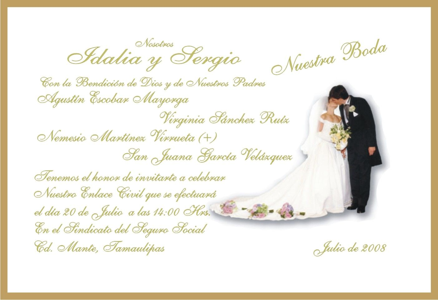 Invitaciones de boda cristiana para mandar por whatsapp 5 - Tarjeta de boda ...