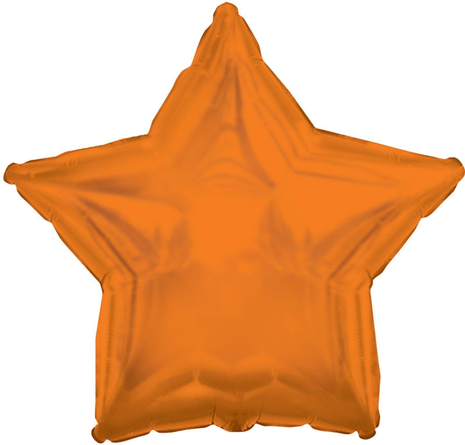 Orange Star Foil Balloon
