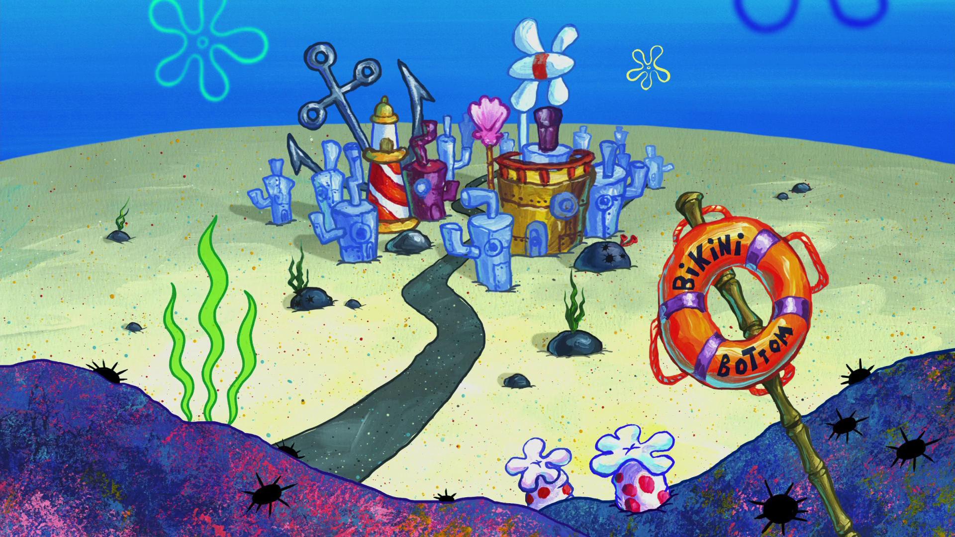 Bikini Bottom Spongebob Background Spongebob Wallpaper Spongebob