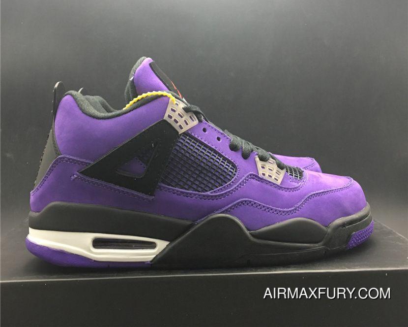 96b89190be81e2 New Style Travis Scott X Air Jordan 4 Purple in 2019