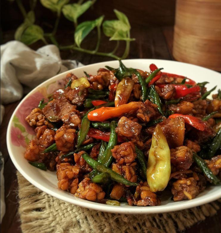 Resep Tumis Tempe Saus Tiram Iniresep Com Resep Resep Masakan Masakan Tumis