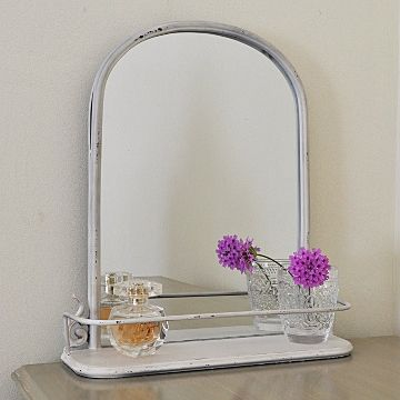 Cream Mirror With Shelf