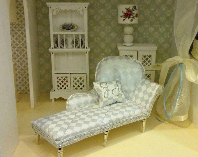 Sofá/12 casa de muñecas \'\' muñeca muebles salón sala Set ...