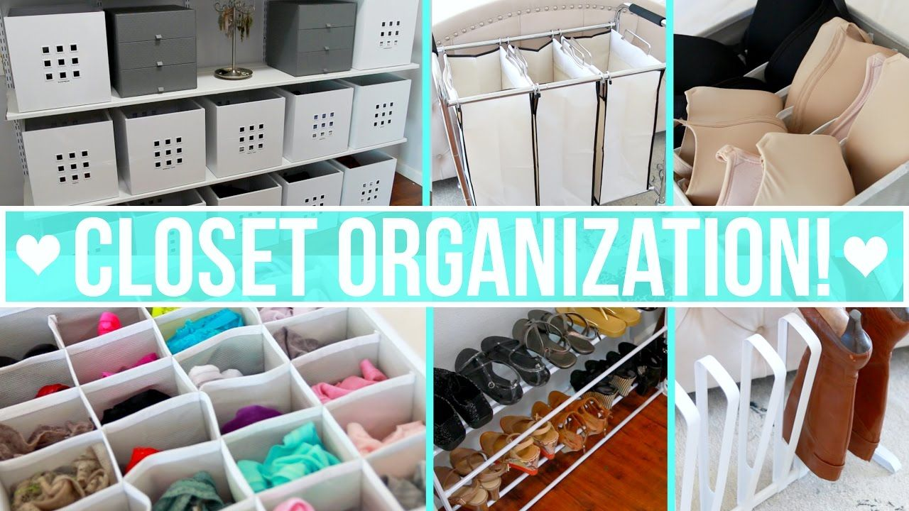 How to organize your closet including clothing drawers