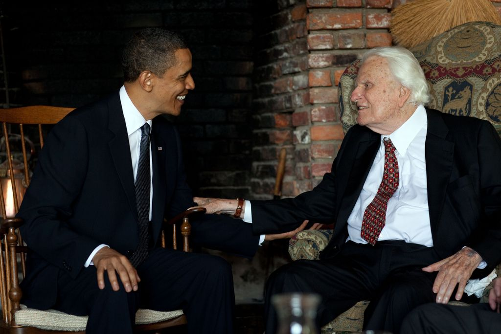 Billy Graham with Barack Obama - William Graham - Wikipedia, la enciclopedia libre