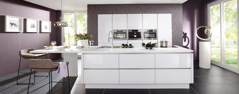 cuisines ixina   cuisine sans poignées   cuisine blanche / witte