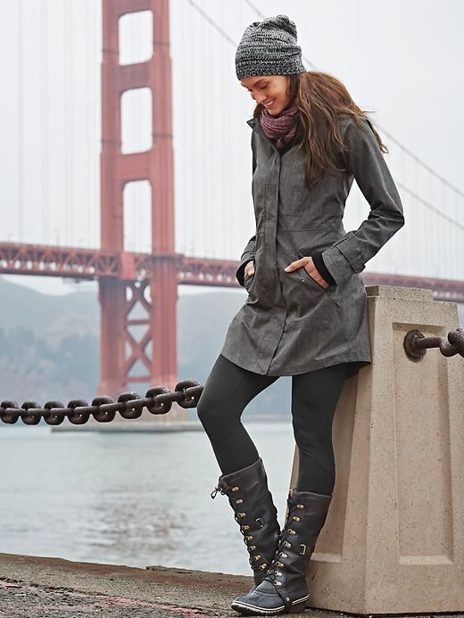 Fall Winter Style In Sorel Conquest Carly Black Boots Winter Outfits Fall Winter