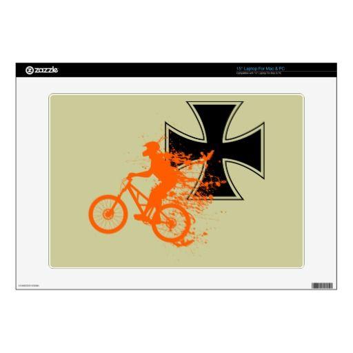 Iron cross splash biker decals for laptops
