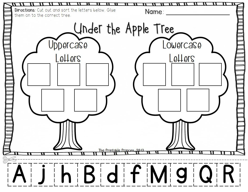 worksheet Kindergarten Activities apple centers for kindergarten fall theme upper and lowercase theme