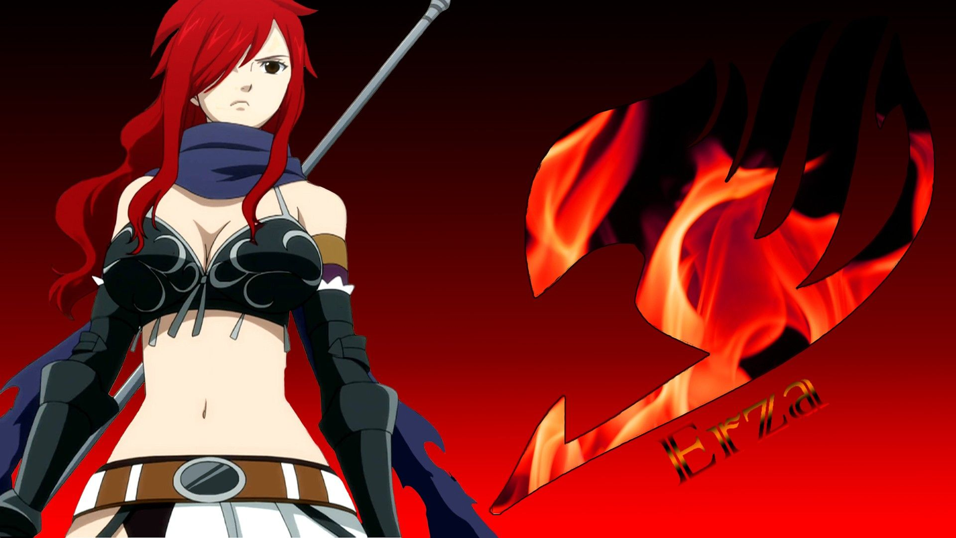 erza fairy tail background hd wallpaper