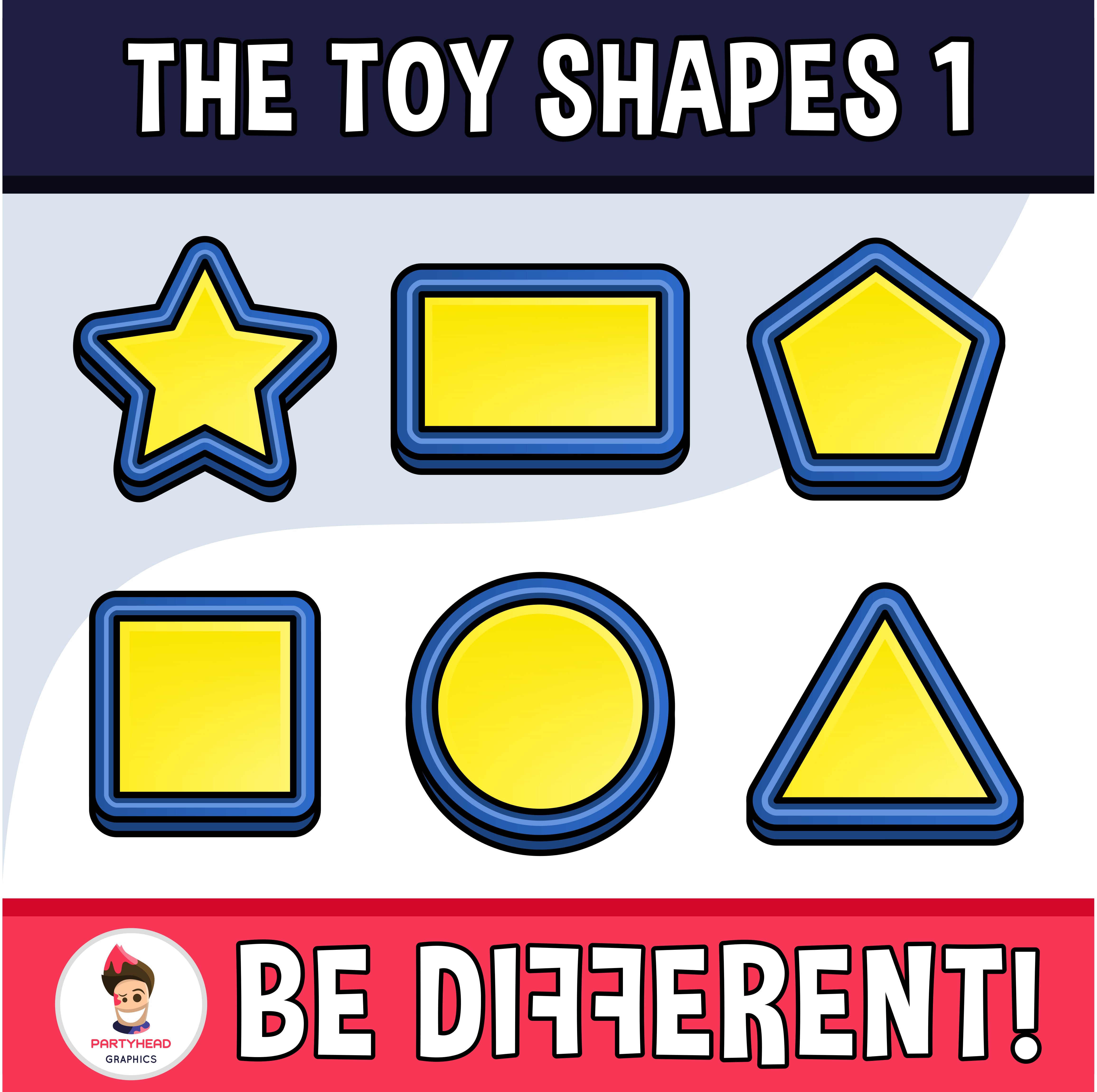 Toy Shapes Clipart 1