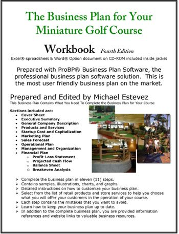 Miniature Golf Course Business Plan Rosewood kid area - service business plan template