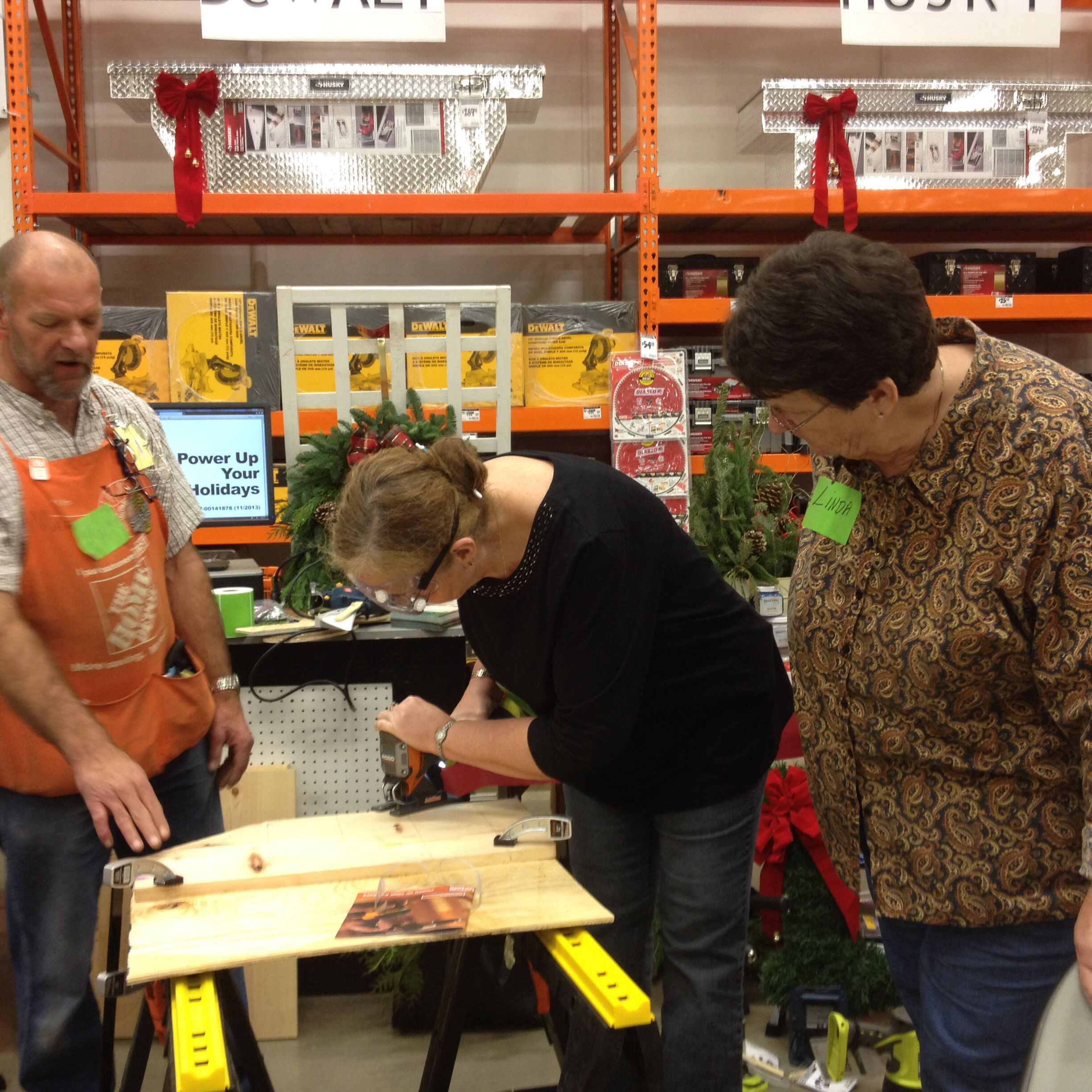 November 2013 DIH learning how to use power tools