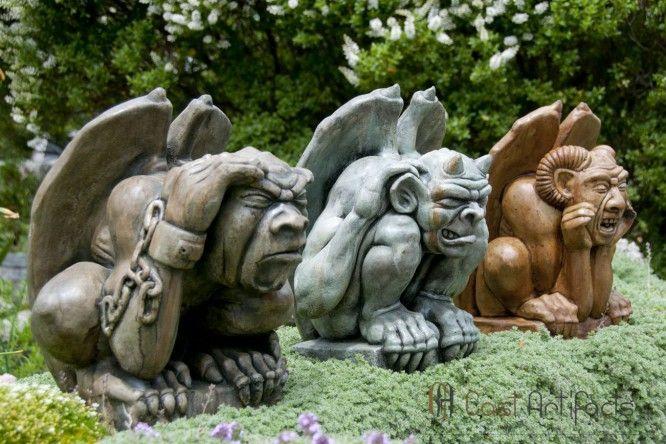 Giddian Gargoyle Gargoyles Concrete Statues Lawn Ornament