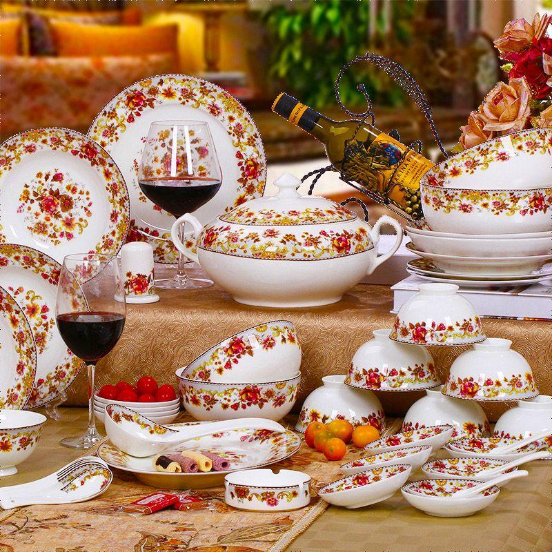 Wedding Gift Tableware Unique Fashion 58 Dinnerware Set Bone China Dinnerware Set Bowl Bone China 514 24