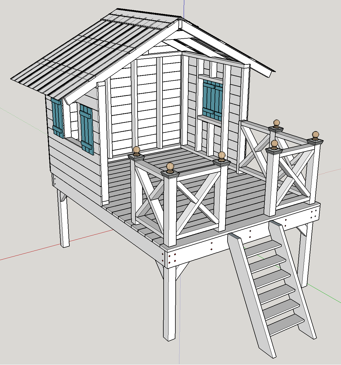 "Google SketchUp plans for the ""Handmade Hideaway"" from The ..."