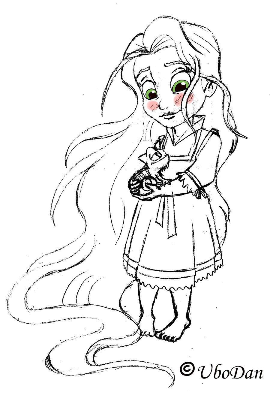 Baby Rapunzel sketch by ubodan on deviantART Rapunzel