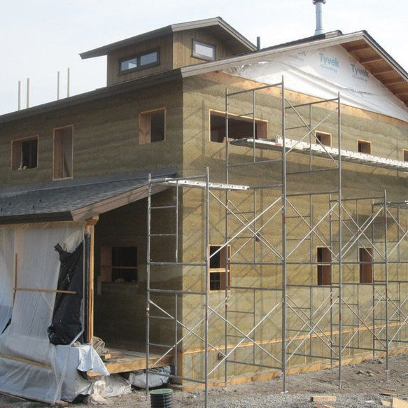 budynek z betonu konopnego