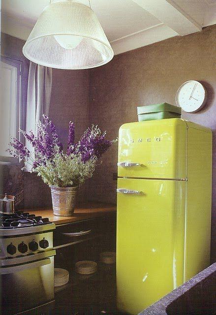 Anya Adores Colour Trends Spring 2013 Vintage Fridge Retro Fridge Smeg